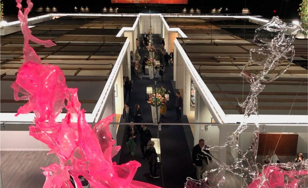 aerial view of tefaf new york exhibit